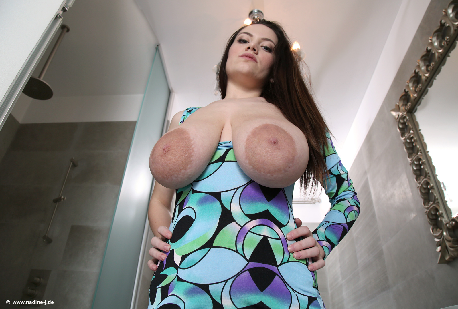Mary Selino - Milking Saggy Tits Beauty From Pigtailed -9807