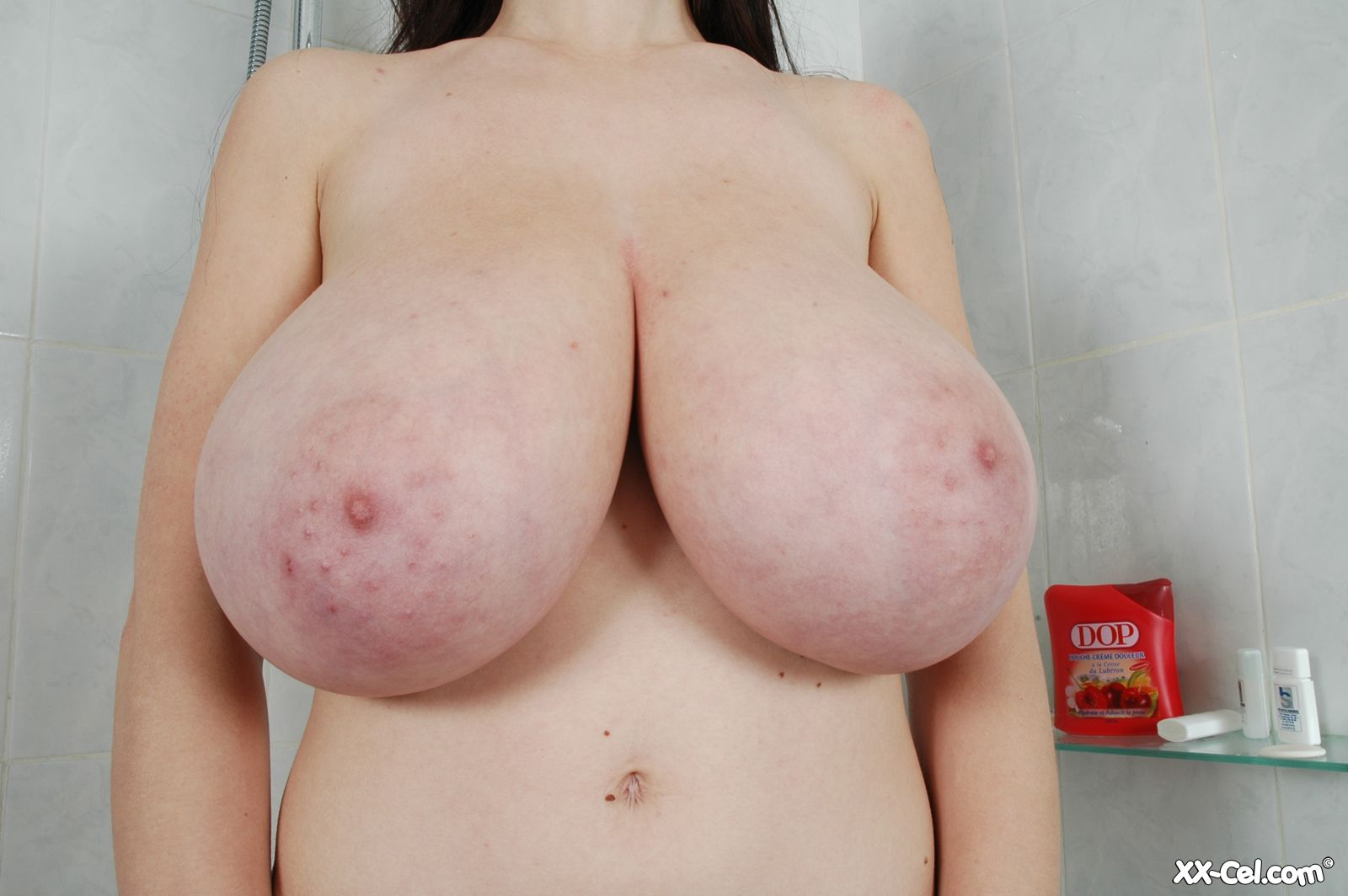 Charming princess with glorious forms show up spectacular boobies