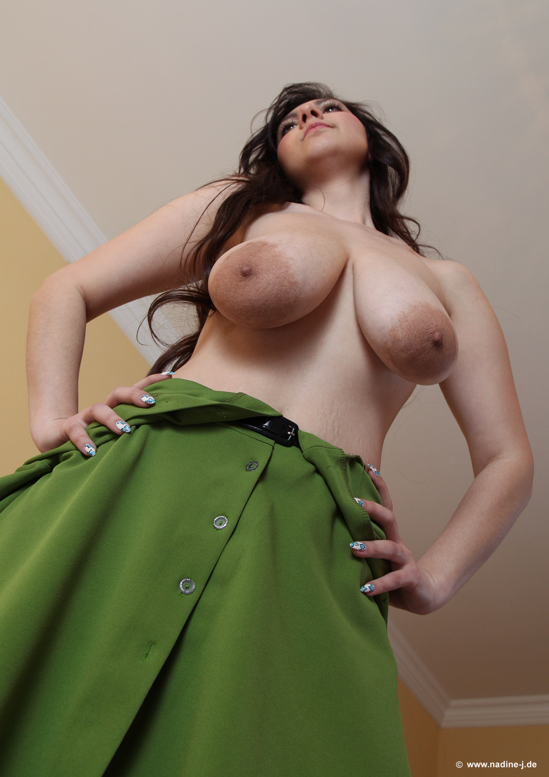 Amazing undine with fantastic flesh shows adorable titties