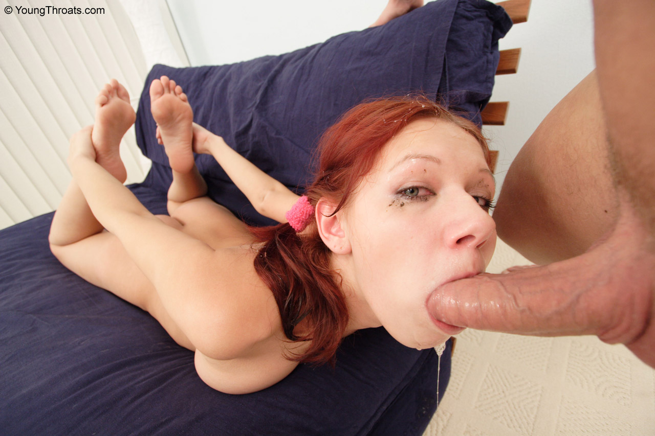 Comely minx and effective oral headthroating