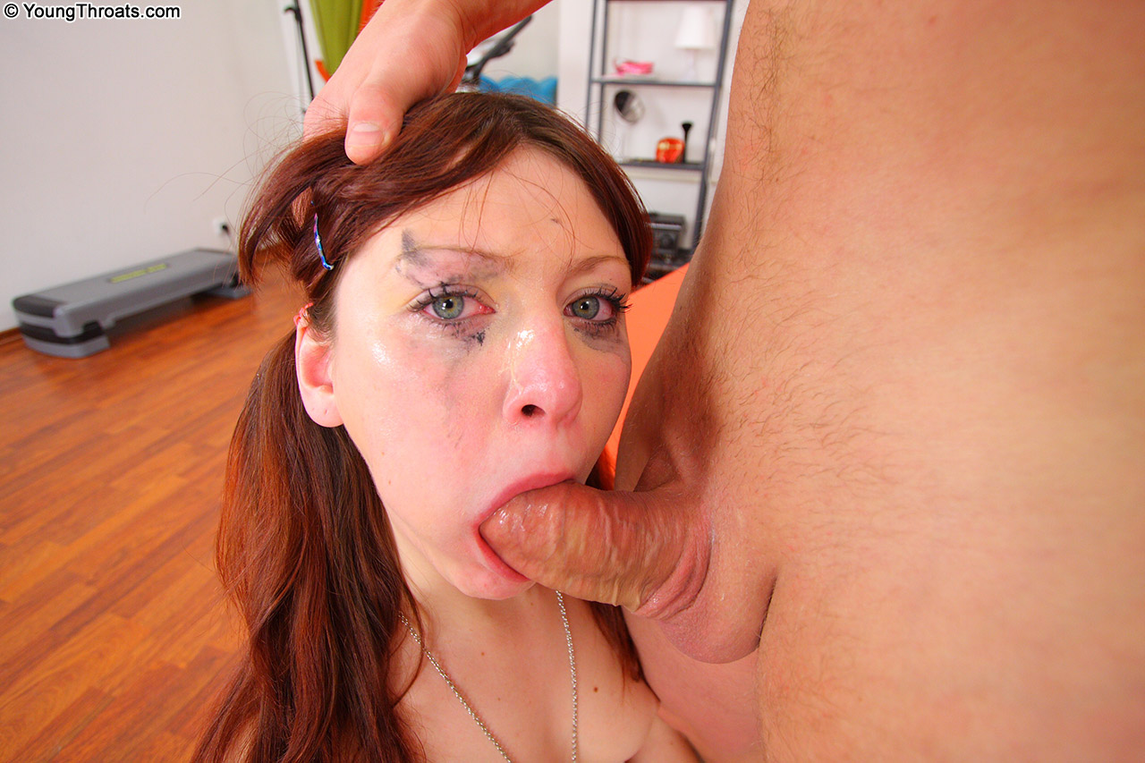 Sensual goddess takes a unique cock in mouth drilling