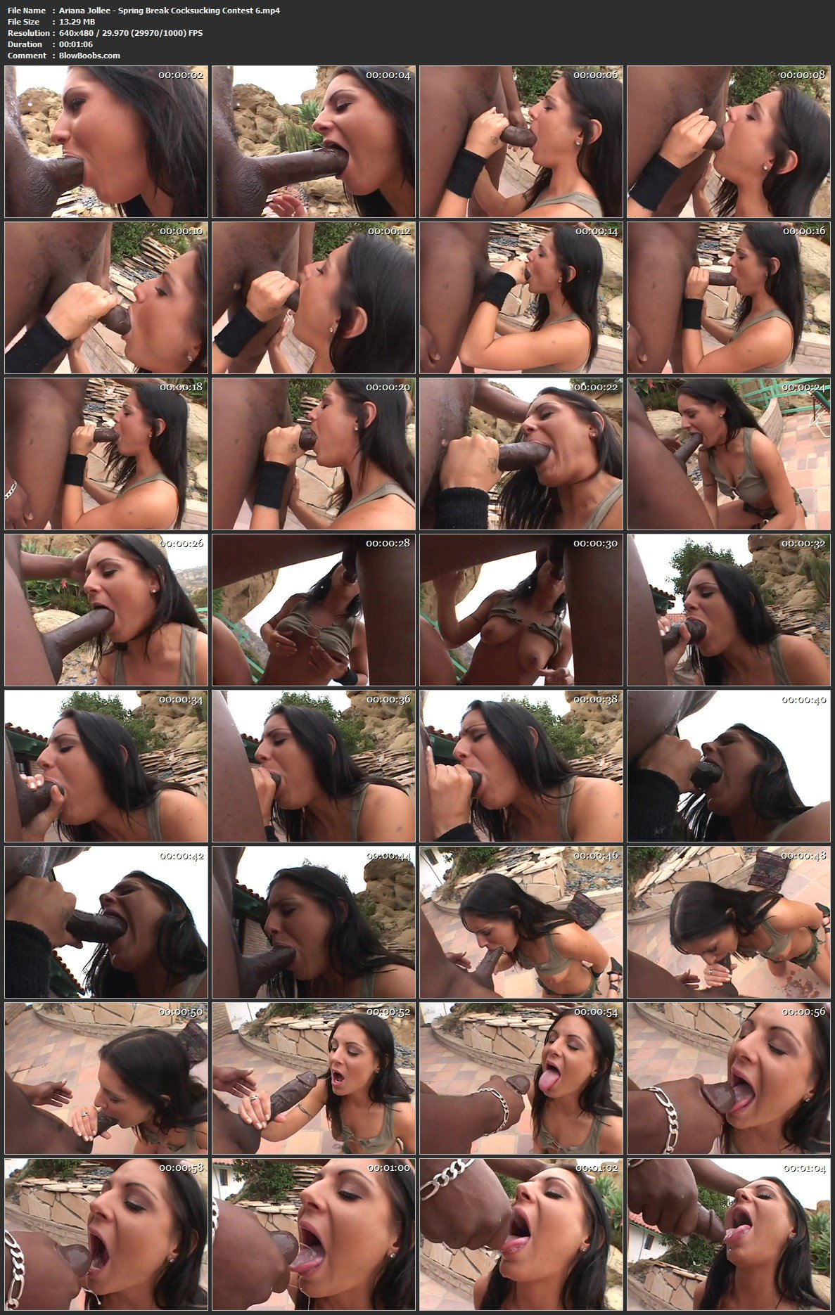 Ariana Jollee - Topnotch Throating Big Black Cock By Slapping Brunette