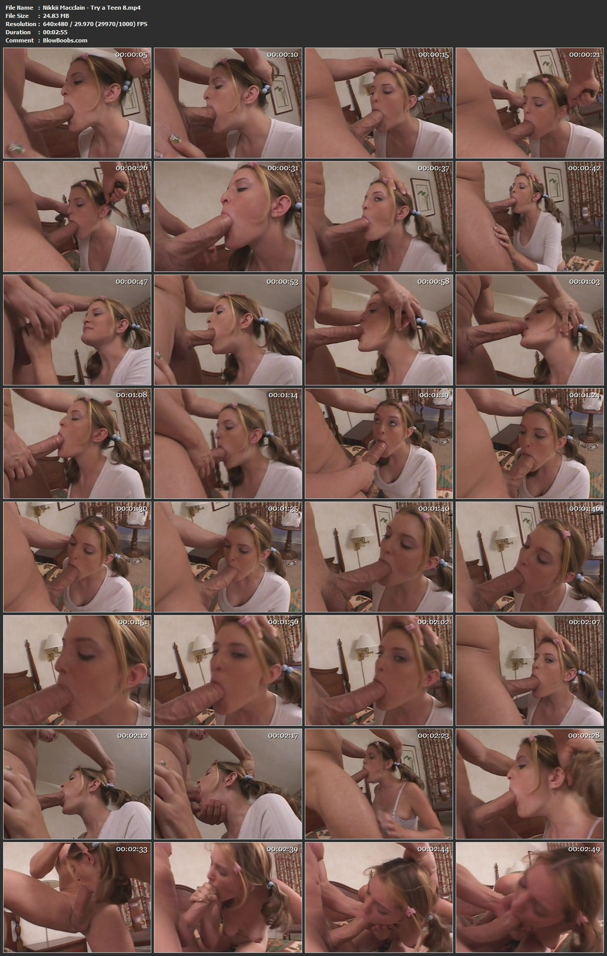 Nikkii Macclain - Sweet Pigtailed Teen Gives Pretty Blowjob