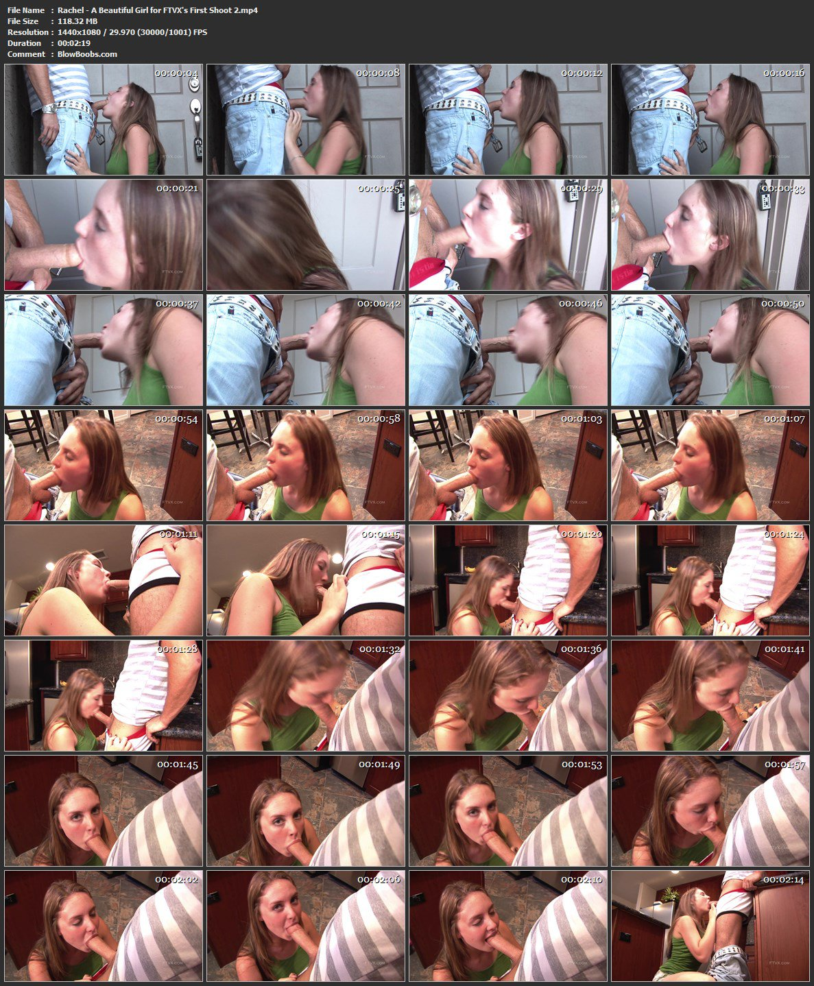 Rachel - Sightly Long-Haired Chick And Honeyed Throat Job